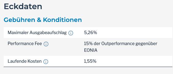 Kosten aktiver Fonds im Vergleich zu ETF